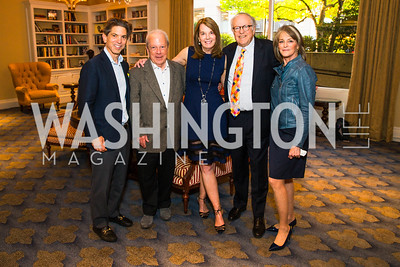 Robert Haft, Philippe Bourguignon,  Carol Melton, Robert Barnett, Rita Braver. Photo by Alfredo Flores. Veep Screening. Motion Picture Association of America. April 13, 2017