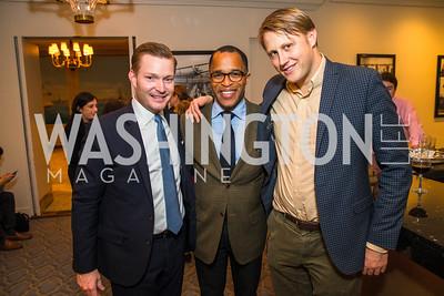 Nick Schmit, Jonathan Capehart, Daniel Lippman, Photo by Alfredo Flores. Veep Screening. Motion Picture Association of America. April 13, 2017
