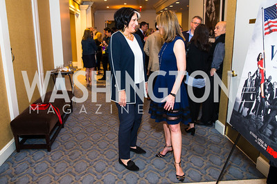 Tammy Haddad, Carol Melton, Photo by Alfredo Flores. Veep Screening. Motion Picture Association of America. April 13, 2017