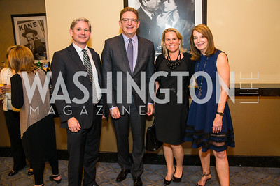 Andrew Oros, Jeffrey Herbst, Catherine Merrill Williams, Carol Melton.  Photo by Alfredo Flores. Veep Screening. Motion Picture Association of America. April 13, 2017