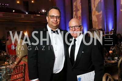 Arvind Manocha, John Gray. Photo by Tony Powell. WPA 50th Anniversary Gala. Mellon Auditorium. March 11, 2017
