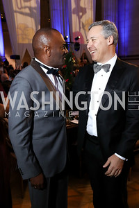Reginald Van Lee, Booz Allen Hamilton CEO Horacio Rozanski. Photo by Tony Powell. WPA 50th Anniversary Gala. Mellon Auditorium. March 11, 2017