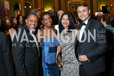 Mark and Brenda Moore, Pryia and Dr. Amit Rastogi. Photo by Tony Powell. WPA 50th Anniversary Gala. Mellon Auditorium. March 11, 2017