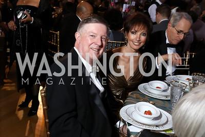 Former WPA President Doug Wheeler, Elizabeth Friedman. Photo by Tony Powell. WPA 50th Anniversary Gala. Mellon Auditorium. March 11, 2017