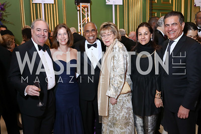 Stephen Labato, Amb. Miriam Sapiro, Frank Islam and Debbie Driesman, Sheeba and Mukesh Aghi. Photo by Tony Powell. WPA 50th Anniversary Gala. Mellon Auditorium. March 11, 2017