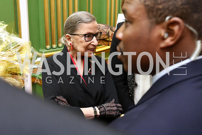 Justice Ruth Bader Ginsburg. Photo by Tony Powell. WPA 50th Anniversary Gala. Mellon Auditorium. March 11, 2017