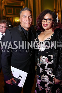Paxton Baker and Elya Baker. Photo by Tony Powell. WPA 50th Anniversary Gala. Mellon Auditorium. March 11, 2017