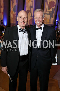 Councilmembers Phil Mendelson and Jack Evans. Photo by Tony Powell. WPA 50th Anniversary Gala. Mellon Auditorium. March 11, 2017