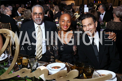 Stan White, Susan Taylor, Khepra Burns. Photo by Tony Powell. WPA 50th Anniversary Gala. Mellon Auditorium. March 11, 2017