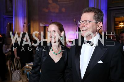 Gudrun Waldner and Austria Amb. Wolfgang Waldner. Photo by Tony Powell. WPA 50th Anniversary Gala. Mellon Auditorium. March 11, 2017