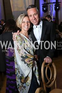 Ruth and Arne Sorenson. Photo by Tony Powell. WPA 50th Anniversary Gala. Mellon Auditorium. March 11, 2017