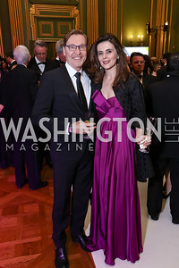 Dr. Michael Olding, Kosovo Amb. Vlora Citaku. Photo by Tony Powell. WPA 50th Anniversary Gala. Mellon Auditorium. March 11, 2017