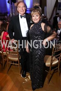 Leo Sahakian, Annie Totah. Photo by Tony Powell. WPA 50th Anniversary Gala. Mellon Auditorium. March 11, 2017