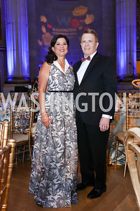 Tina and Gary Mather. Photo by Tony Powell. WPA 50th Anniversary Gala. Mellon Auditorium. March 11, 2017