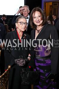 Justice Ruth Bader Ginsburg, WPA President & CEO Jenny Bilfield. Photo by Tony Powell. WPA 50th Anniversary Gala. Mellon Auditorium. March 11, 2017