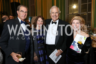 David Reines, Tracy Fitzsimmons and Knox Singleton, Nina Totenberg. Photo by Tony Powell. WPA 50th Anniversary Gala. Mellon Auditorium. March 11, 2017