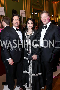 Josh Bernstein, Marike Paulsson, Daniel Heider. Photo by Tony Powell. WPA 50th Anniversary Gala. Mellon Auditorium. March 11, 2017