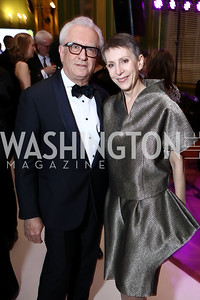 Viken Poochikian and Irene Roth. Photo by Tony Powell. WPA 50th Anniversary Gala. Mellon Auditorium. March 11, 2017