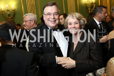 Iceland Amb. Geir Haarde and Inga Haarde. Photo by Tony Powell. WPA 50th Anniversary Gala. Mellon Auditorium. March 11, 2017