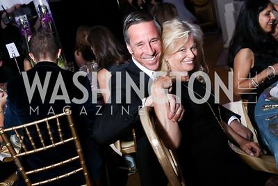 Arne Sorenson, Linda Potter. Photo by Tony Powell. WPA 50th Anniversary Gala. Mellon Auditorium. March 11, 2017