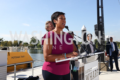 Mayor Muriel Bowser. Photo by Tony Powell. Wharf Water Taxi Preview. October 10, 2017