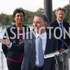 Mayor Muriel Bowser, Madison Marquette Chairman Amer Hammour, Entertainment Cruises CEO Kenneth Svendsen. Photo by Tony Powell. Wharf Water Taxi Preview. October 10, 2017