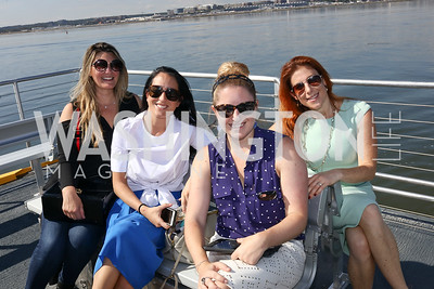 Virginia Coyne, Catherine Trifiletti, Laura Wainman, Jayne Sandman. Photo by Tony Powell. Wharf Water Taxi Preview. October 10, 2017