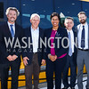 Entertainment Cruises CEO Kenneth Svendsen, PN Hoffman Founder and CEO Monty Hoffman, Mayor Muriel Bowser, Madison Marquette Chairman Amer Hammour, Ward 6 Councilmember Charles Allen. Photo by Tony Powell. Wharf Water Taxi Preview. October 10, 2017