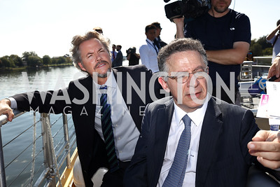 Entertainment Cruises CEO Kenneth Svendsen, Madison Marquette Chairman Amer Hammour. Photo by Tony Powell. Wharf Water Taxi Preview. October 10, 2017