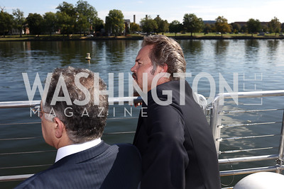 Madison Marquette Chairman Amer Hammour, Entertainment Cruises CEO Kenneth Svendsen. Photo by Tony Powell. Wharf Water Taxi Preview. October 10, 2017