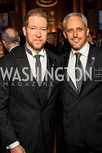 David Trout, Michael Williams, . Photo by Alfredo Flores. White Hat Gala. Andrew W. Mellon Auditorium. October 26, 2017.