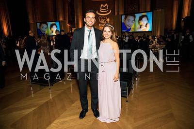 Mattia Chason, Lina Zdruli,. Photo by Alfredo Flores. White Hat Gala. Andrew W. Mellon Auditorium. October 26, 2017.