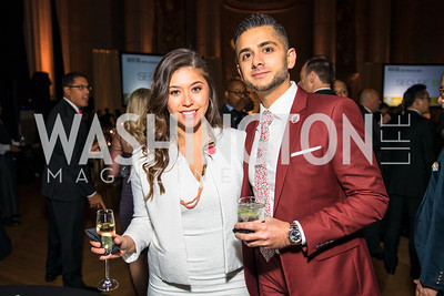 Denise Pho, Sunny Tuteja, . Photo by Alfredo Flores. White Hat Gala. Andrew W. Mellon Auditorium. October 26, 2017.