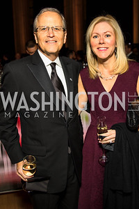 Paul Innella, DeAnn Marshall, . Photo by Alfredo Flores. White Hat Gala. Andrew W. Mellon Auditorium. October 26, 2017.