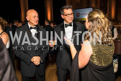 Jim Dolce, John Wilson, Holly Dunn. Photo by Alfredo Flores. White Hat Gala. Andrew W. Mellon Auditorium. October 26, 2017.