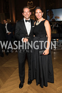 Jesse Dean, Meredith Dean. Photo by Alfredo Flores. White Hat Gala. Andrew W. Mellon Auditorium. October 26, 2017.
