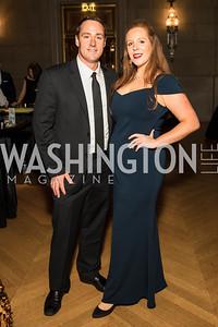 Robert Leggat, Lauren Leggat. Photo by Alfredo Flores. White Hat Gala. Andrew W. Mellon Auditorium. October 26, 2017.dng