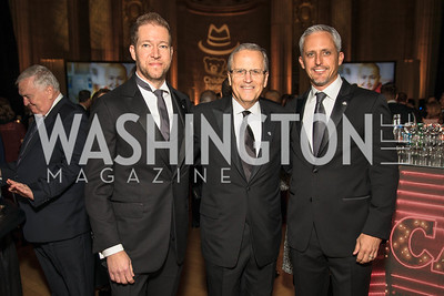 David Trout, Michael Williams, Paul Innella. Photo by Alfredo Flores. White Hat Gala. Andrew W. Mellon Auditorium. October 26, 2017.