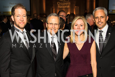 David Trout, Michael Williams, DeAnn Marshall, Paul Innella. Photo by Alfredo Flores. White Hat Gala. Andrew W. Mellon Auditorium. October 26, 2017.