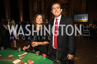 Diana Stein, Greg Matthews. Photo by Alfredo Flores. White Hat Gala. Andrew W. Mellon Auditorium. October 26, 2017.dng