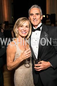 Dede Schmidt, Rudy Schmidt. Photo by Alfredo Flores. White Hat Gala. Andrew W. Mellon Auditorium. October 26, 2017.
