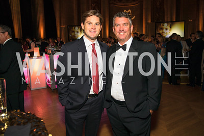 Nick Schisler, Steve Hoffman. Photo by Alfredo Flores. White Hat Gala. Andrew W. Mellon Auditorium. October 26, 2017.
