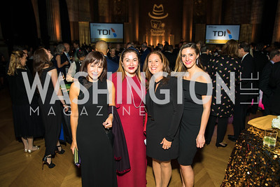 Natalia Luis, Cidalia Akbar, Amy Boger, Logan Berman.  Photo by Alfredo Flores. White Hat Gala. Andrew W. Mellon Auditorium. October 26, 2017.