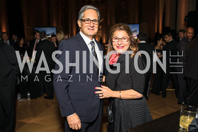 Peter Friedman, Debra Friedman. Photo by Alfredo Flores. White Hat Gala. Andrew W. Mellon Auditorium. October 26, 2017.