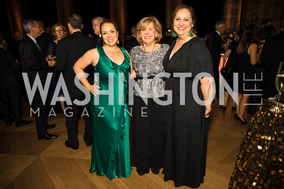 Heather Innella, Nicole Innella, Lidia Innella. Photo by Alfredo Flores. White Hat Gala. Andrew W. Mellon Auditorium. October 26, 2017.dng