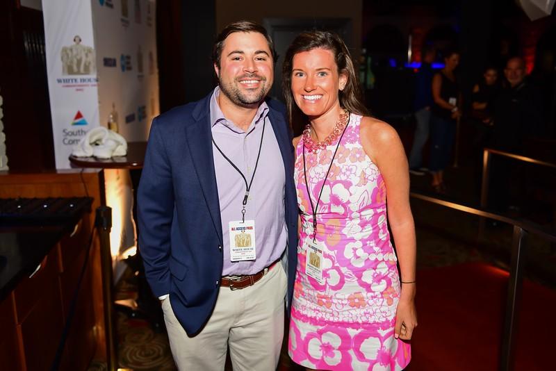 Robert Cogan and Katie Byerly. White House Correspondent's Jam.  Photo by Joy Asico. The Hamilton Live. April 28, 2017