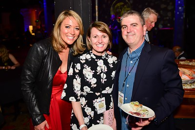Brooke Baldwin, Emily Murphy, Paul Kain. Chuck Leavell. White House Correspondent's Jam.  Photo by Joy Asico. The Hamilton Live. April 28, 2017