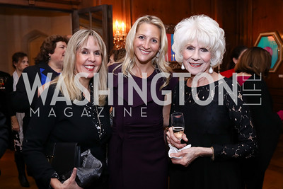 Isabel Ernst, Carrie Marriott, Diane Rehm. Photo by Tony Powell. 2017 Seeds of Peace Dinner. Villa Firenze. November 7, 2017