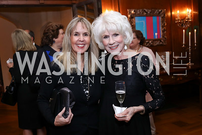 Isabel Ernst, Diane Rehm. Photo by Tony Powell. 2017 Seeds of Peace Dinner. Villa Firenze. November 7, 2017