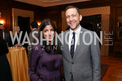 Parita Shah and Amb. Peter Selfridge. Photo by Tony Powell. 2017 Seeds of Peace Dinner. Villa Firenze. November 7, 2017